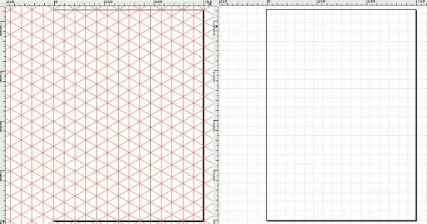 Сетка прямоугольная и аксонометрическая в inkscape